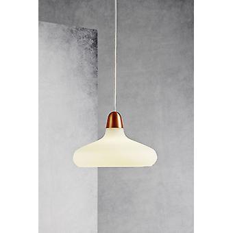 Bloom 29 - breed glas geborsteld koper en stalen hanger - Nordlux 78183030
