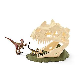 Schleich Dinosaurs Large Skull Trap with Velociraptor Dinosaur Figure (42348)