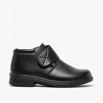 Shuperb Derrick Mens Touch Fasten Ankle Boots Black