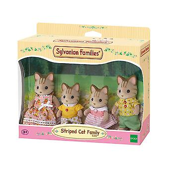 Sylvanian Families - Striped Cat Family Toy