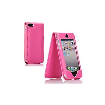 Pink Vertical Opening Cover For Apple IPhone 5
