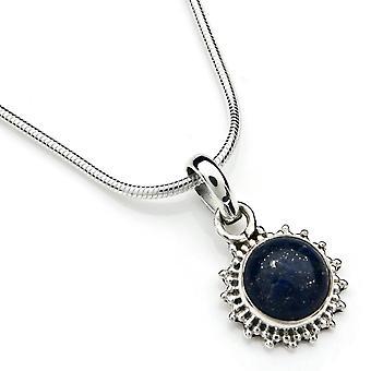 Pendente de corrente 925 Silver Lapis Lazuli incl. corrente de prata (x 1 mm/nº 64)