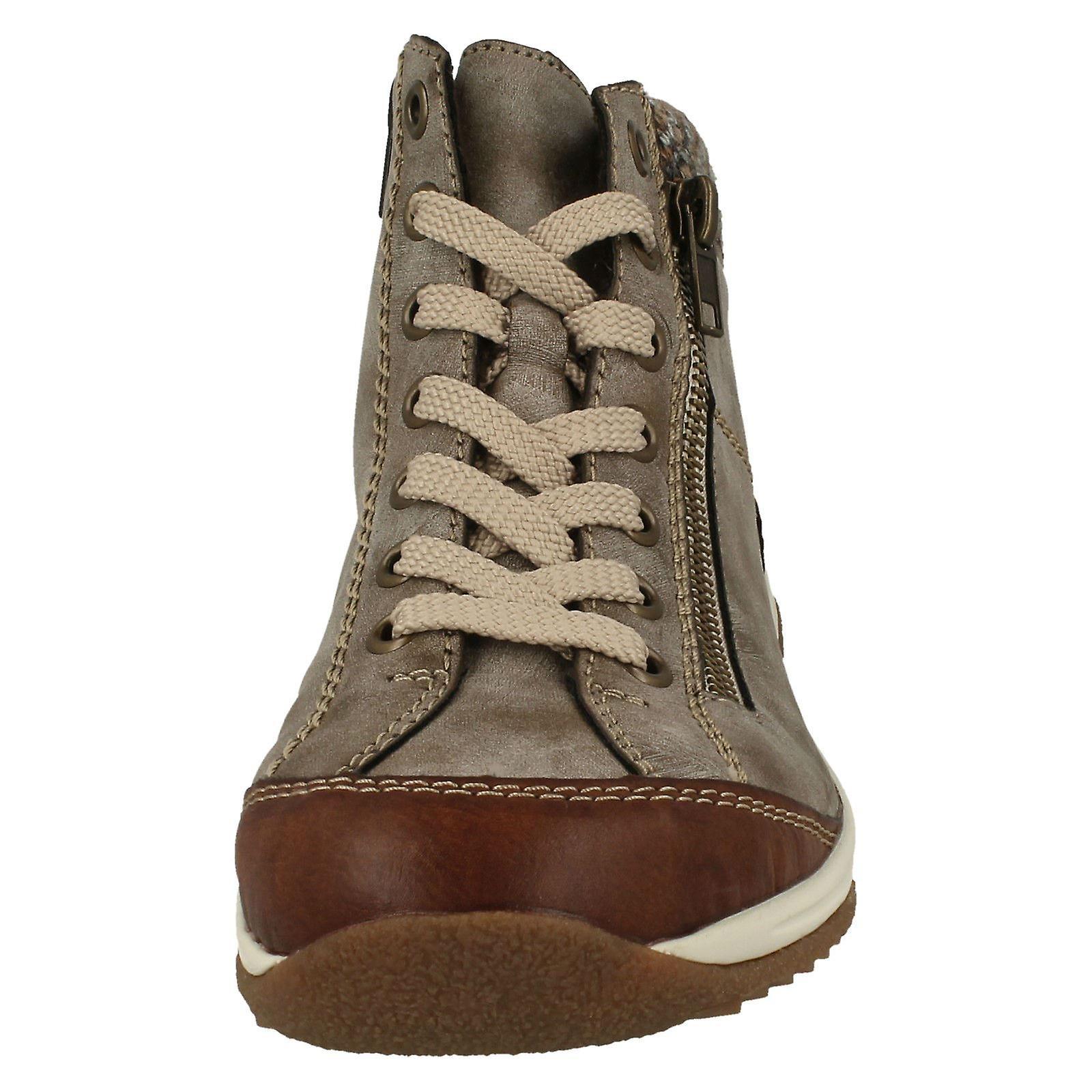 Ladies Rieker strikket mansjett Ankel Boots L5223