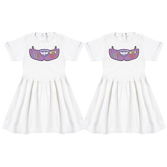 Space Armour Twin Girls Baby Dress Twins, Baby Girl Twins, Baby Gift