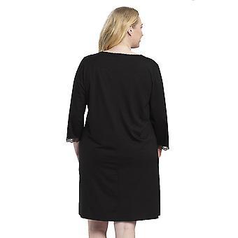 Rösch 1194581-11741 Women's Curve Jet Black Nightdress