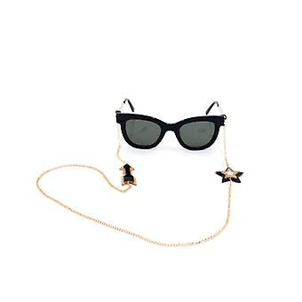 Gold Plated Star and Arrow Eyewear Chain