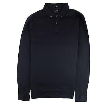 Hugo Boss Paver 12 Long Sleeve Polo Shirt Black
