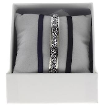 Boksen udskiftelige A49376 - ring bånd 4 mm stof ornamenter Palladium / krystal kvinde