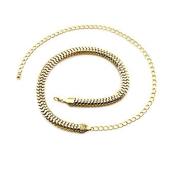 Women's Gold Twisted Chain Style Belt With Clasp Buckle