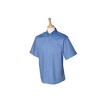 Henbury short sleeve lightweight oxford hb555