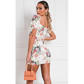 IKRUSH Womens Dove Floral Cut Out Mini Robe