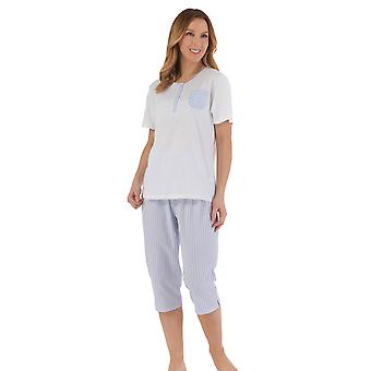Slenderella PJ55223 Women's Striped Pyjama Set
