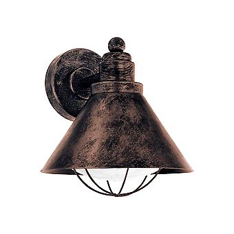 Eglo Barrosela - 1 Light Outdoor Wall Downlight Antique Copper IP44 - EG94858