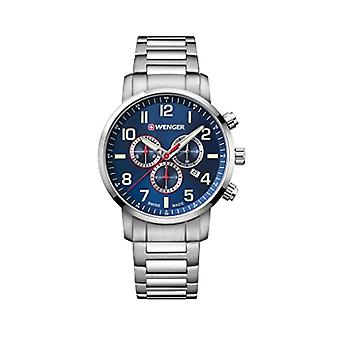 Wenger Unisex Quartz Chronograph Watch with stainless steel band 01.1543.101
