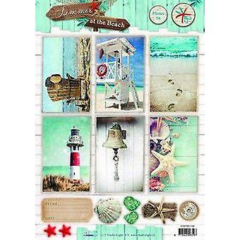 Studio Light Scrapbook paper 10 Sheets 30.5x30.5cm summer beach 03 SCRAPSB03