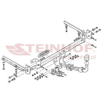 Steinhof Automatic Detachable Towbar (Horizontal) for Honda ACCORD IX 2008-2015