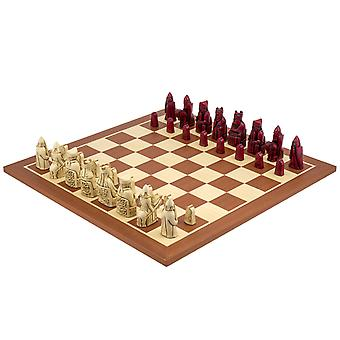 Isle of Lewis mahogny kardinal Chess Sett