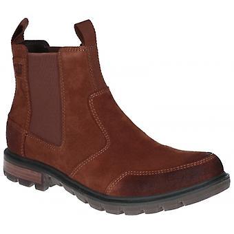CAT Lifestyle Economist Mens Leather Chelsea Boots Rust