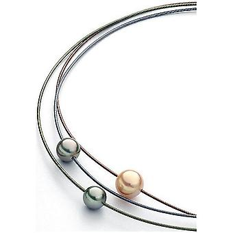 Luna-Pearls Choker Freshwater Pearls 13-14mm Tahiti pearl 11-11.5mm steel 3001241