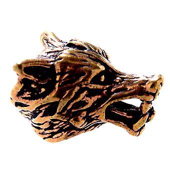 Beard bead wolf 8 mm - bronze