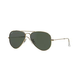 Ray-Ban Aviator RB3025 L0205 Arista Crystal Grey-Green Sunglasses