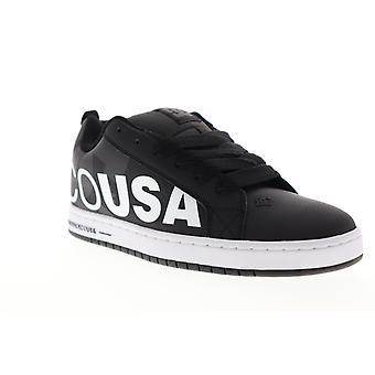 DC Court Graffik SE  Mens Black Low Top Lace Up Skate Sneakers Shoes