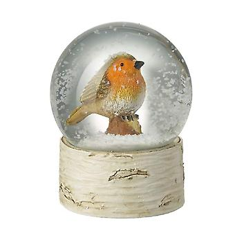 Heaven Sends Christmas Robin Snowglobe