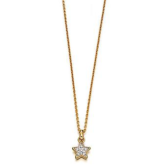 Little Star Olympia Gold & Pave Diamond Star Children's Necklace