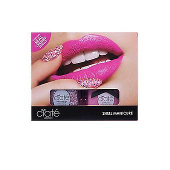 Ciate Shell Manicure Set - Conchas Esmagadas 13.5ml Pote de tinta Ela Vende Conchas
