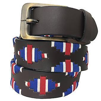 carlos diaz unisex  brown leather  polo belt cdupb119