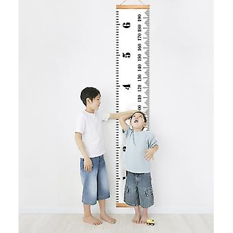 Baby Growth Chart Canvas Height Measurement Ruler Hanging Ruler Wall Decor For Kids Wall Decor Baby Nursery