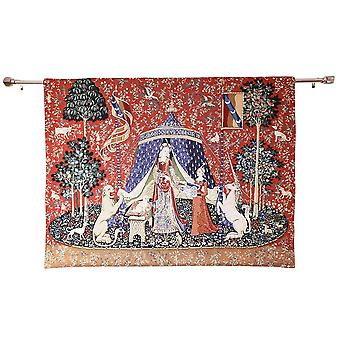 Wall hanging-lady & unicorn a mon seul desir | home decor - available in 2 sizes