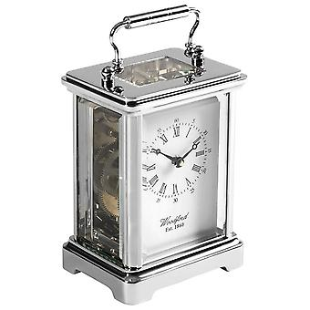 Woodford Obis 8 Day Movement Carriage Clock - Silver