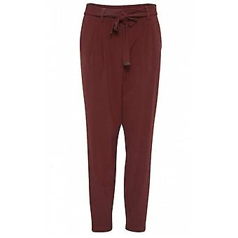 b.young Copper High Waisted Trousers