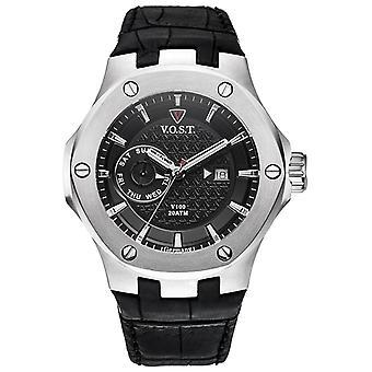 V.O.S.T. Germany V100.004 Steel Multifunction Men's Watch 44mm