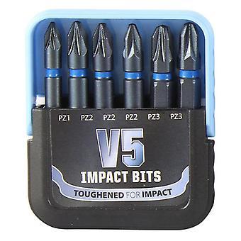 TIMco V5 Impact Bits Set Pozi 6pc