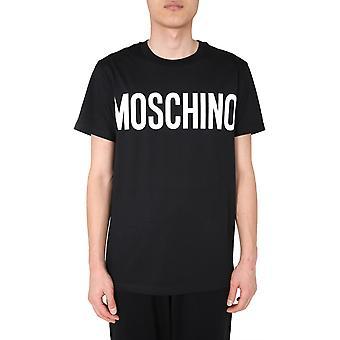 Moschino 070570401555 Männer's schwarze Baumwolle T-shirt