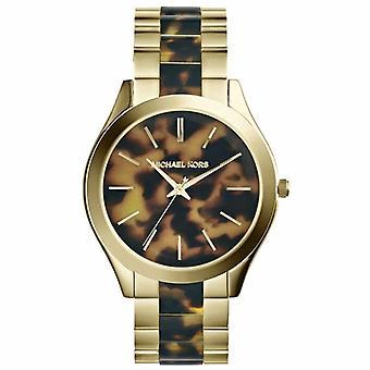 Michael Kors Mk4284 Gold Tone Slim Runway Ladies Watch