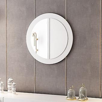 Spiegel Lady 183 Schwarz Farbe, Melaminic Chip Chrom, Spiegel, L60xP2xA60 cm