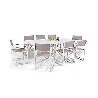 Alu Dining Group Naplemente 8 - fehér