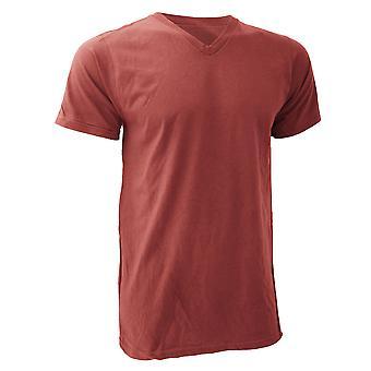 Yunque para hombre V cuello moda Tee / camiseta