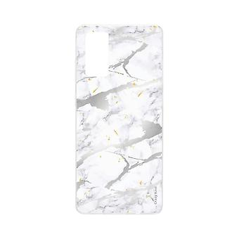 Hull For Samsung Galaxy S20 Soft Grey Marble Effect