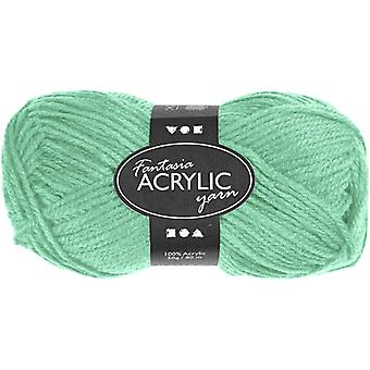 50g 3-Ply Sea Blue Acrylic Yarn for Kids Knitting and Sewing Crafts
