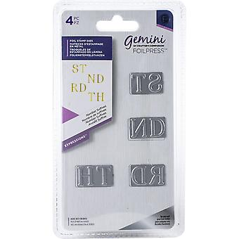 Gemini Number Suffixes Expressions Foil Stamp Die & Stamp