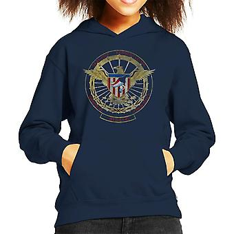 NASA STS 51 C Discovery Mission Badge Distressed Kid's Hooded Sweatshirt