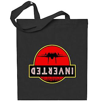 Top Gun Jurassic Park Inverted Totebag
