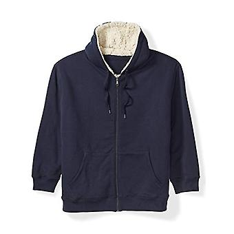 Essentials Men's Big and Tall Sherpa Lined Full-Zip Hooded Fleece Swea...