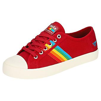 Gola Coaster Rainbow Womens Fashion Trainers in Red Multicolour