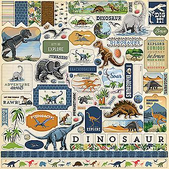 Carta Bella Dinosaurs 12x12 Inch Element Sticker