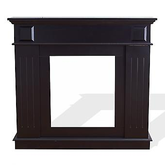 Rebecca Furniture Decorative Frame Fireplace Fake Black Wood Classic 100x109x26